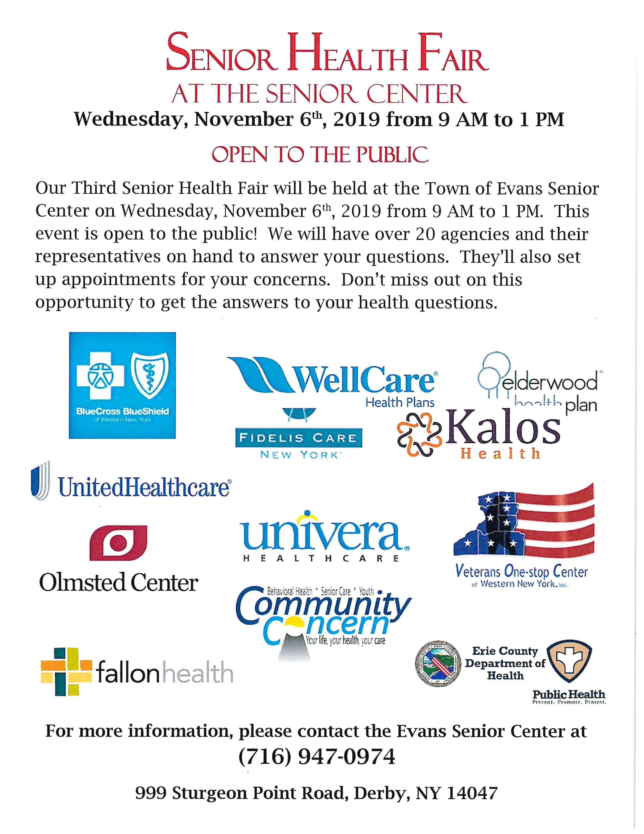 2019 11 06 Sr Health Fair