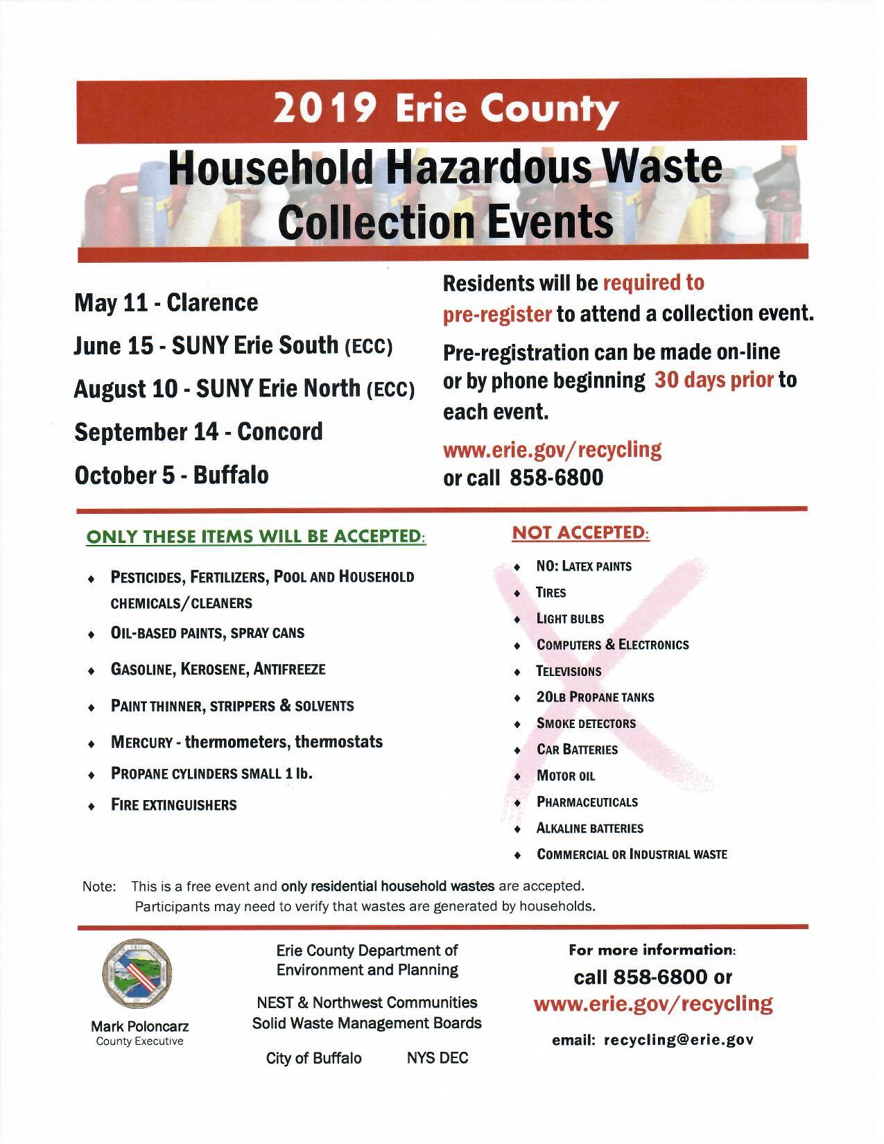 2019 Hazardous Waste EC Drop Off