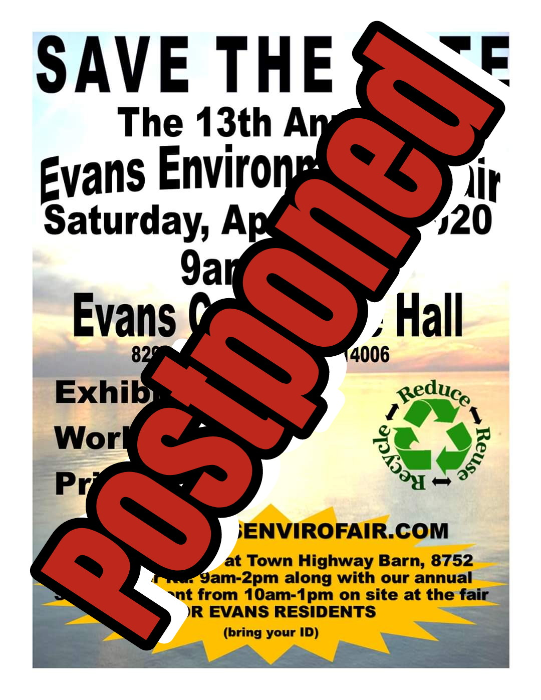 2020 Env Fair POSTPONED