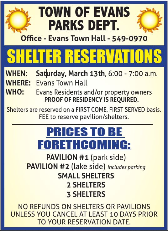 2021 Shelter Resveration Day
