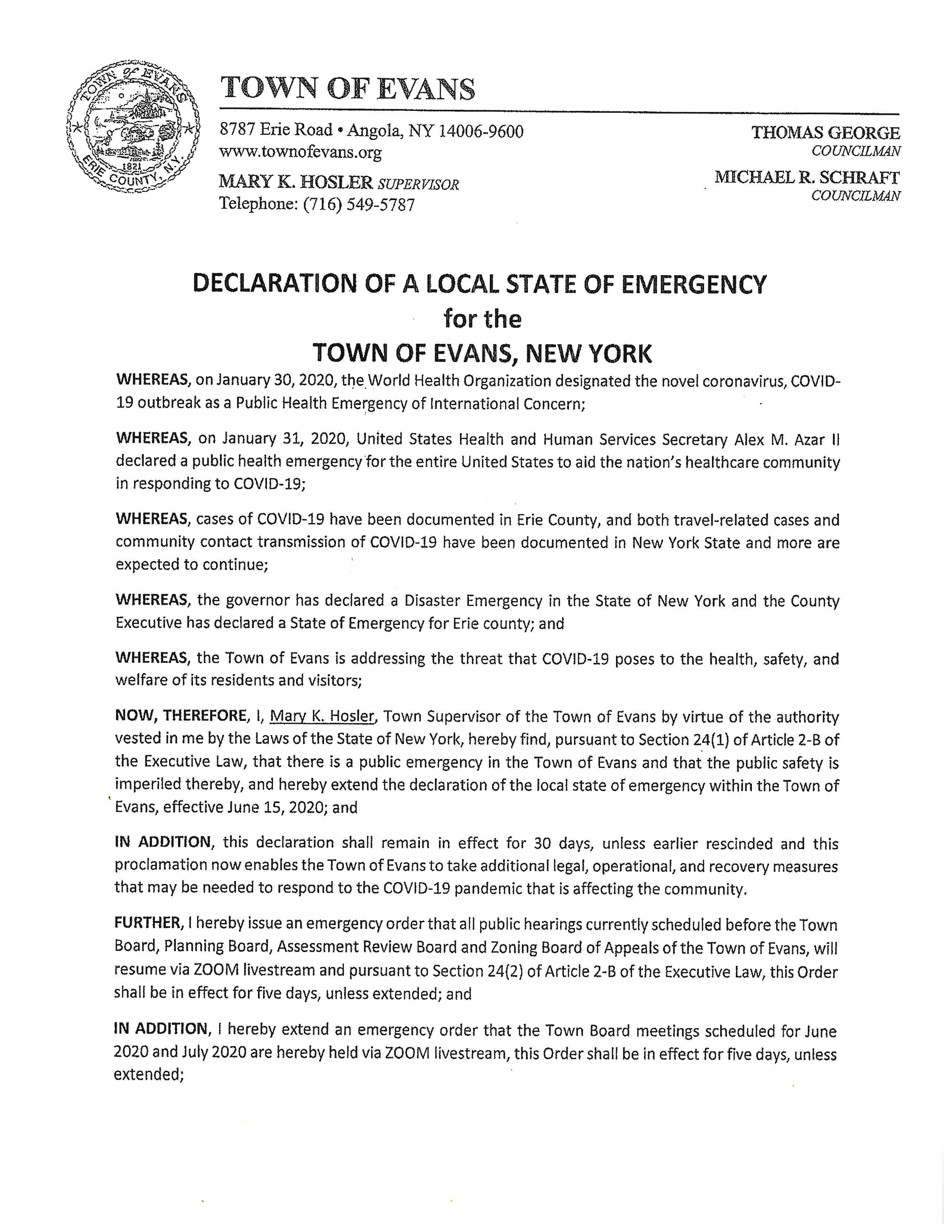 Emergency Declaration 2020 06 15 pg 1